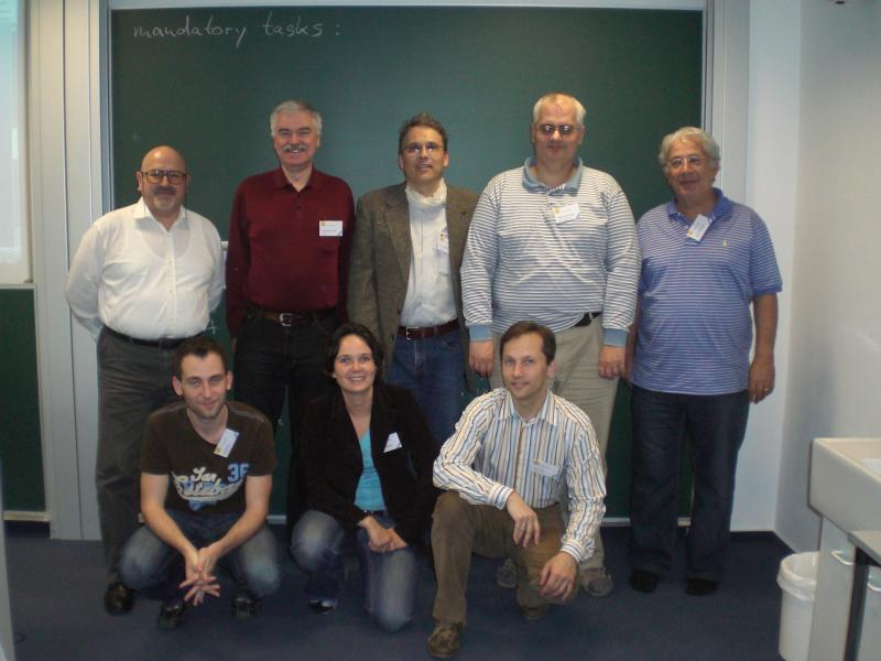 Front row, from left to right: Jan Berki (Czech Republic), Judith Helgers (The Netherlands), Ahto Truu (Estonia). Back row, from left to right: Antonio Cartelli (Italy), Gerald Futschek (Austria), Paul Miotti (Switzerland), Peter Tomcsányi (Slovakia), Haim Averbuch (Israel)