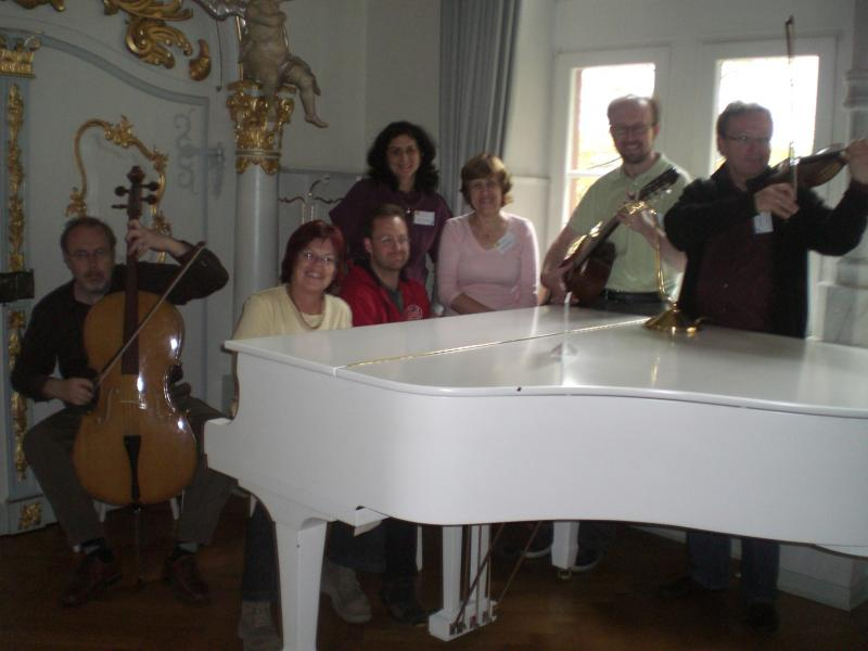 From left to right: Jiri Vanicek (Czech Republic), Hila Kadman (Israel), Cristina Tomoiaga (Romania), Ivo Blöchliger (Switzerland), Valentina Dagiene (Lithuania), Juha Vartiainen (Finland), Michael Weigend (Germany)