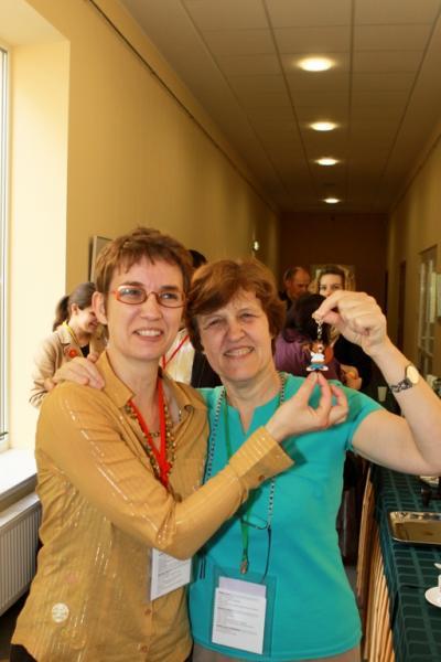 Françoise Tort (France) and Valentina Dagienė (Lithuania).